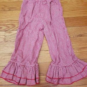 Ruffled Red Gingham Girls Pants Sz 24M